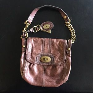 Super cute small brown Fossil handbag. EUC.